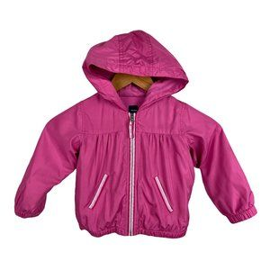 Baby Gap Windbreaker Jacket Pink Hooded Full Zip